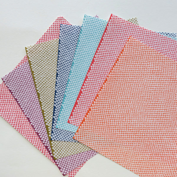 36 Sheets 17x17cm Washi Origami Paper - Mixed Patterns - washi paper - Lavender Home London