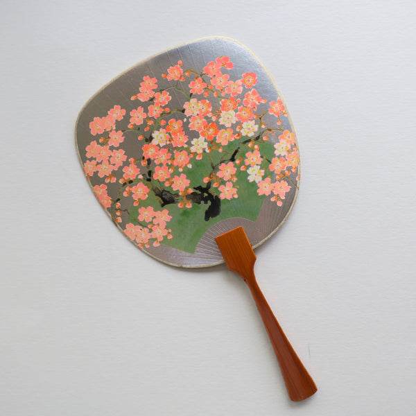 Uchiwa-fan Greeting Card - Blooming Sakura Branches - Cards - Lavender Home London