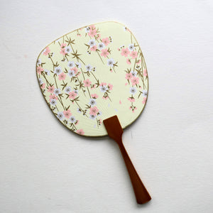 Uchiwa-fan Greeting Card - Hanging Pink and White Sukura Flowers - Cards - Lavender Home London