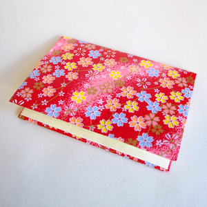 Japanese Yuzen Washi Card Holder - Outlined Cherry Blossom Red Gradation - Japanese Card Holders - Lavender Home London