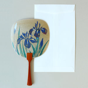Uchiwa-fan Greeting Card - Iris - Cards - Lavender Home London