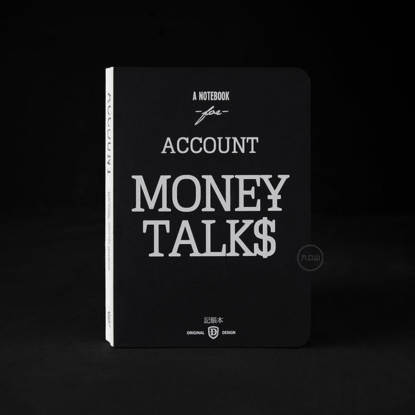Life Document Hardcover Notebook - ACCOUNT MONEY TALKS - Stationery - Lavender Home London