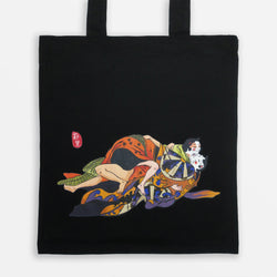 Original Japanese Art Ukiyo-e Tote Bag - Lovers
