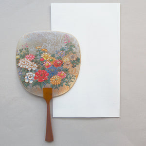 Uchiwa-fan Greeting Card - Flower Garden - Cards - Lavender Home London