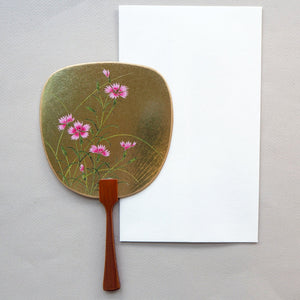 Uchiwa-fan Greeting Card - Dianthus Superbus - Cards - Lavender Home London