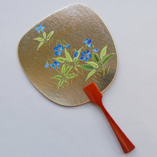 Uchiwa-fan Greeting Card - Blue Violets
