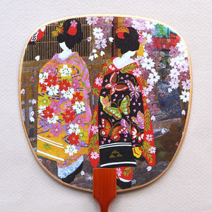 Uchiwa-fan Greeting Card - Two Maiko Women - Cards - Lavender Home London