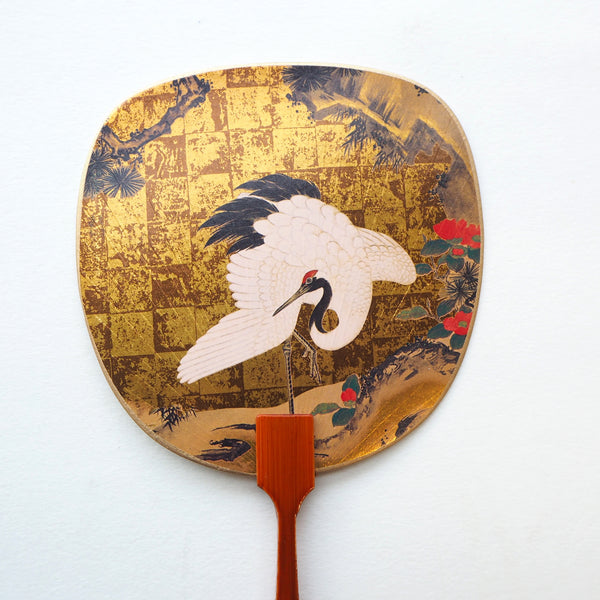 Uchiwa-fan Greeting Card - Crane - Cards - Lavender Home London
