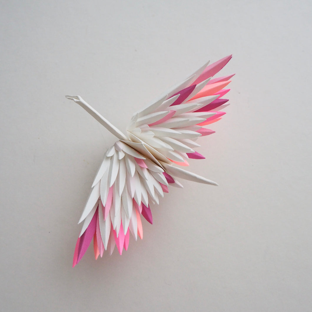 Origami Feathered Crane - Pink Mix