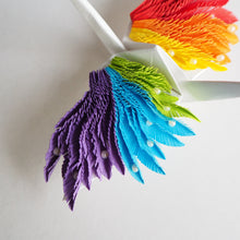 Origami Feathered Crane - Rainbow