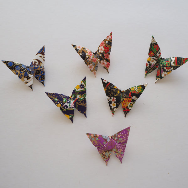 Pack of 10 - Yuzen Washi Origami Paper Butterflies - Medium