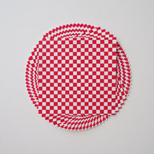 Pack of 20 Sheets 14x14cm Yuzen Washi Origami Paper HZ-511 - Red & White Checkerboard