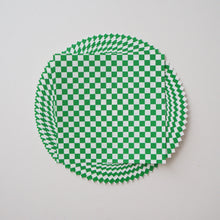 Pack of 20 Sheets 14x14cm Yuzen Washi Origami Paper HZ-512 - Green & White Checkerboard