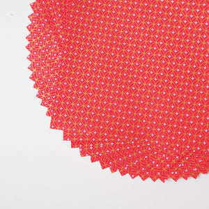 Pack of 20 Sheets 14x14cm Yuzen Washi Origami Paper HZ-064 - Shippou Circle Red