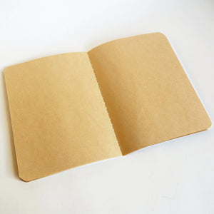 Soft Binding Brown Paper Pocket Notebook - Merry Go Round - Stationery - Lavender Home London