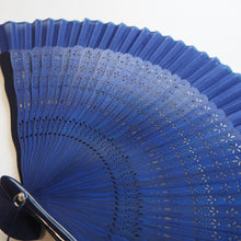 Japanese Hand Held Fan - Blue - Folding fan - Lavender Home London