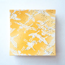Pack of 100 Sheets 7x7cm Yuzen Washi Origami Paper  HZ-091 - Cranes Sunny Yellow - washi paper - Lavender Home London