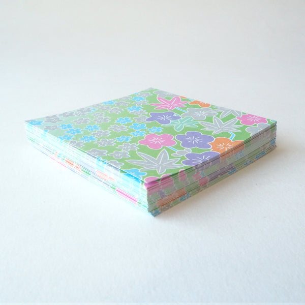 Pack of 100 Sheets 7x7cm Yuzen Washi Origami Paper for making modular origami, kusudama and thousand of cranes