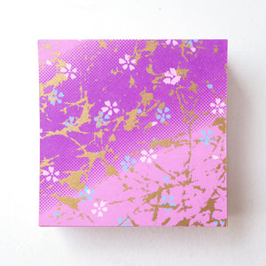 Pack of 100 Sheets 7x7cm Yuzen Washi Origami Paper  HZ-279 - Small Cherry Blossom Purple Gradation - washi paper - Lavender Home London
