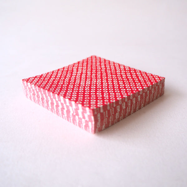 Pack of 100 Sheets 7x7cm Yuzen Washi Origami Paper - Deer's Spots Red