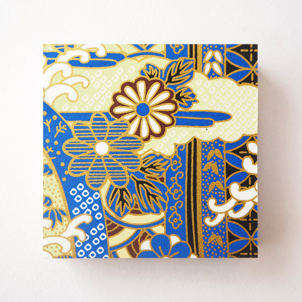 Pack of 100 Sheets 7x7cm Yuzen Washi Origami Paper - Gorgeous Blue