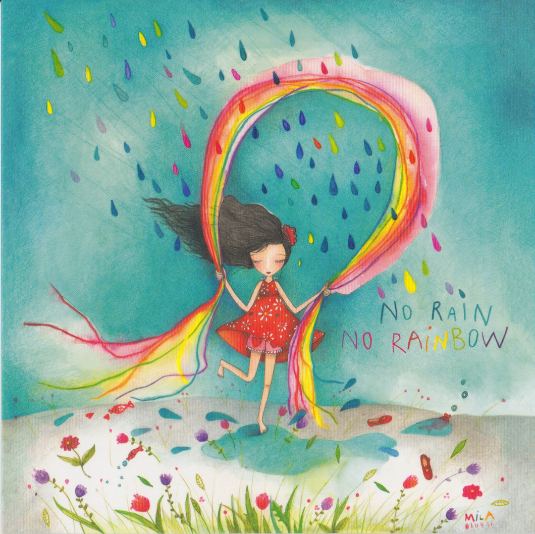 Greeting Card - GA53 - No Rain No Rainbow