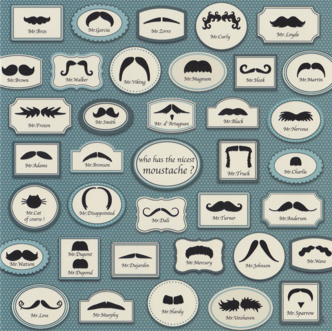 Greeting Card - The Moustache Collection - Cards - Lavender Home London
