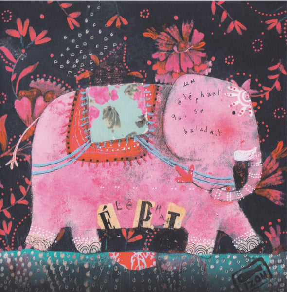 Greeting Card - GA16 - Wandering Elephant