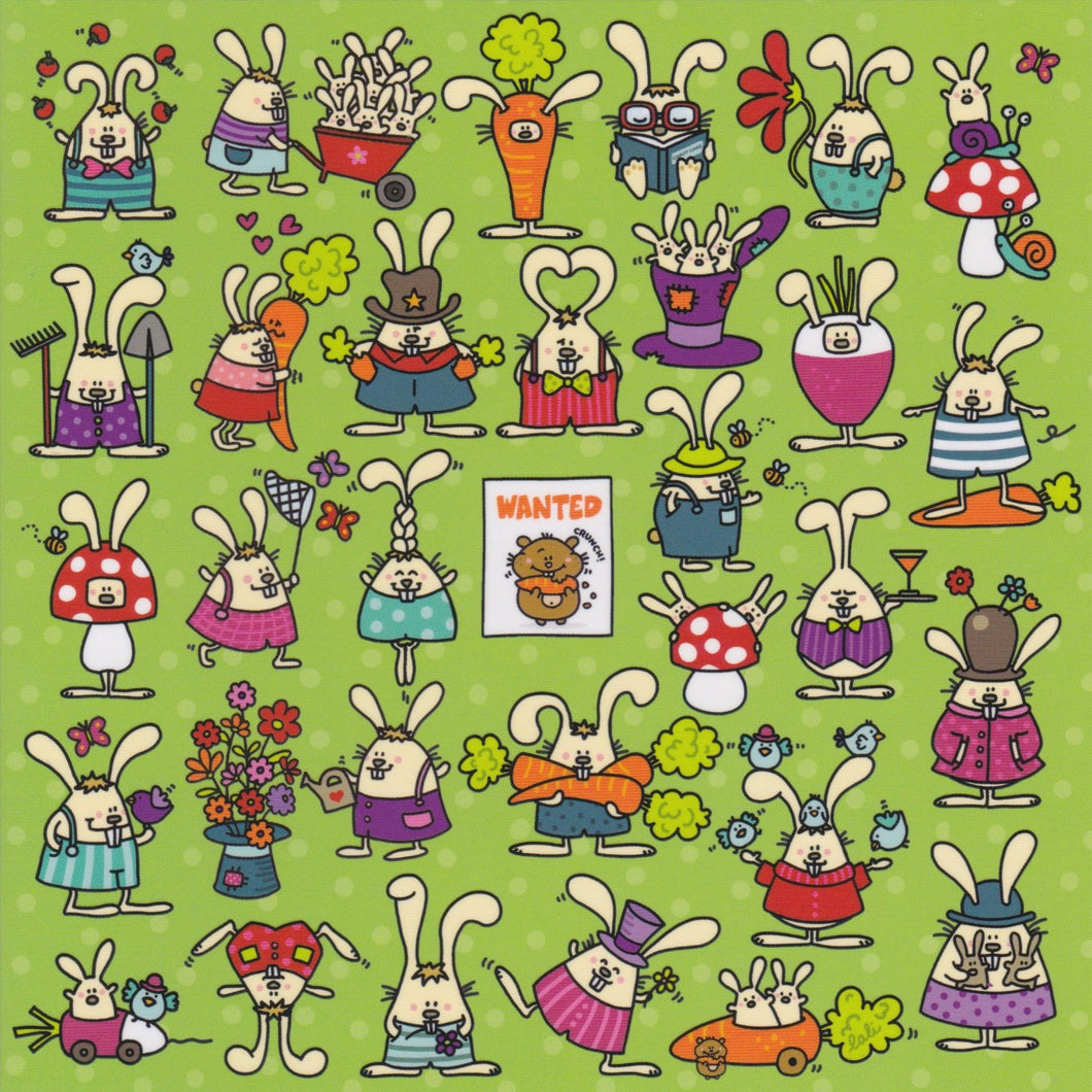 Greeting Card - GL4 - Wanted Bunnies