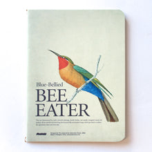 Soft Binding Brown Paper Pocket Notebook - Blue Bellied Bee Eater