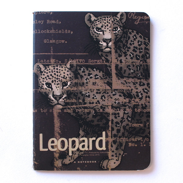 Soft Binding Brown Paper Pocket Notebook -  Leopards - Stationery - Lavender Home London