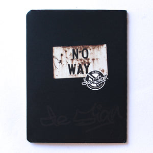 Soft Binding Brown Paper Pocket Notebook - No Way - Lavender Home London