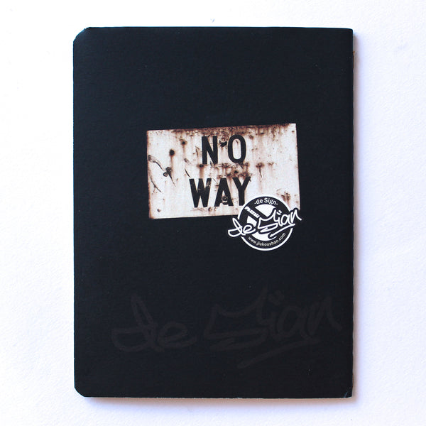 Soft Binding Brown Paper Pocket Notebook - No Way