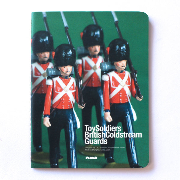 Soft Binding Brown Paper Pocket Notebook - British Queens Guards Toy Soldiers