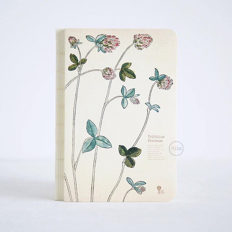 Herb Edition Notebook - Trifolium Pratense Red Clover - Lavender Home London