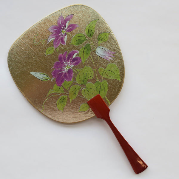 Uchiwa-fan Greeting Card - Clematis - Cards - Lavender Home London
