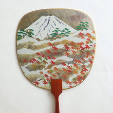 Uchiwa-fan Greeting Card - Mount Fuji in Autumn - Cards - Lavender Home London