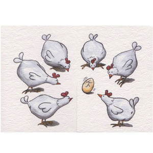Fold Out New Baby Card - Hens and the Egg - Cards - Lavender Home London