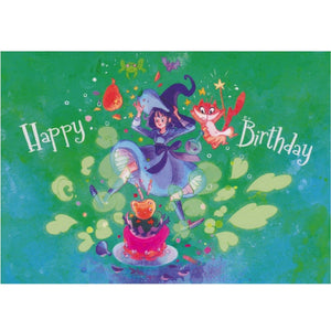 Birthday Card - DA91 - Happy Birthday Witch - Lavender Home London