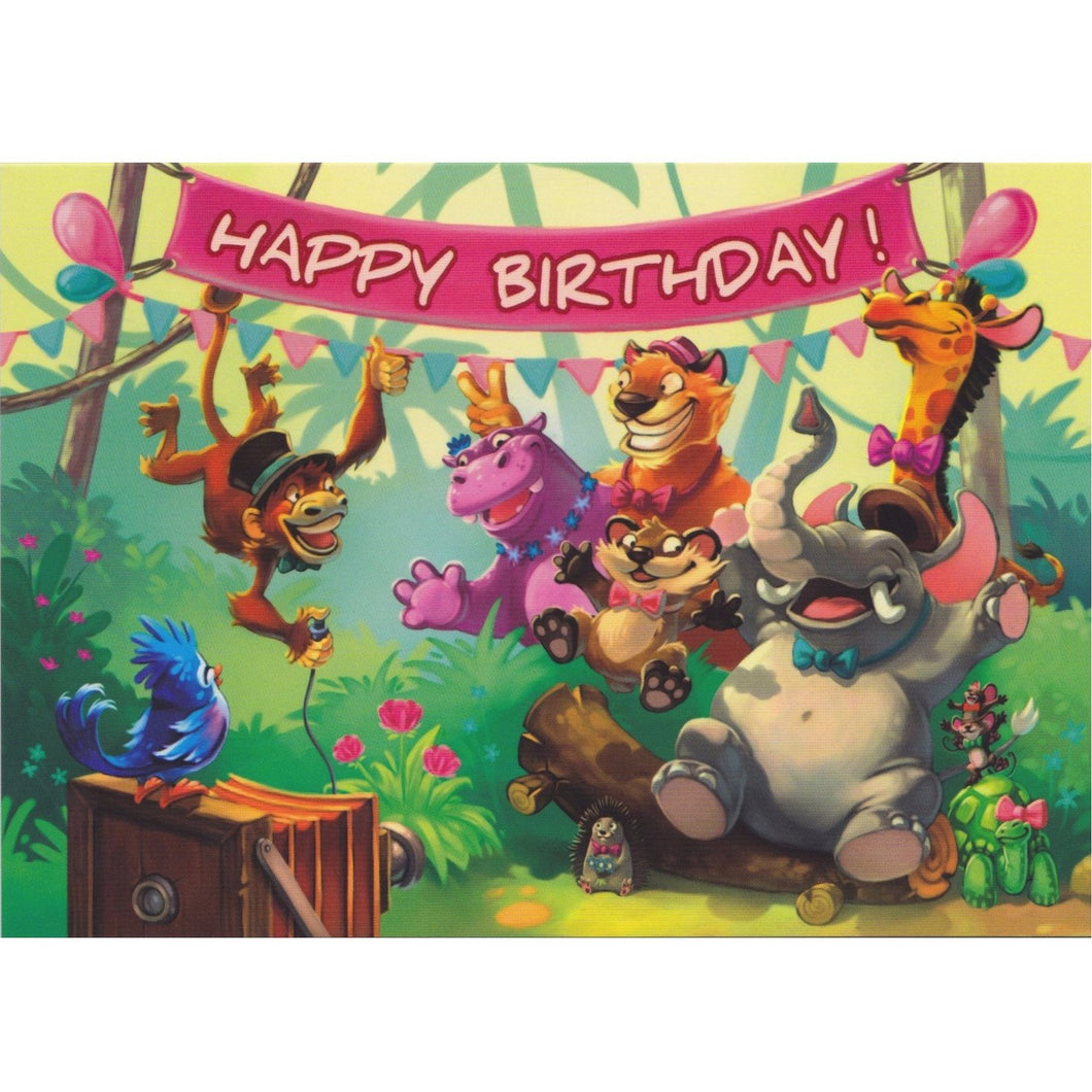 Birthday Card - DA89 - Happy Birthday Jungle Photo - Lavender Home London