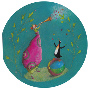 Greeting Card - RS21 - The Trumpet and the Penguin