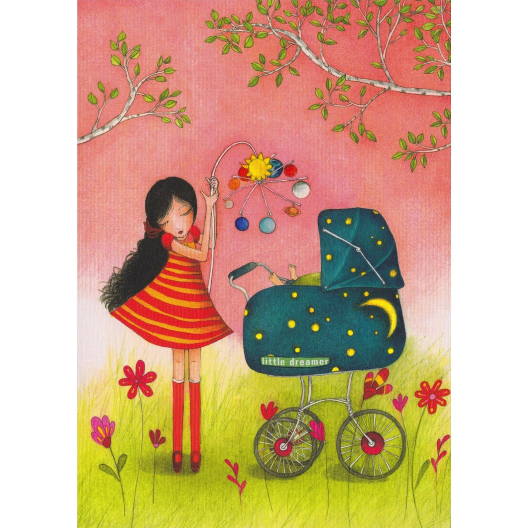 New Baby Card - DA40 - Little Dreamer - Lavender Home London