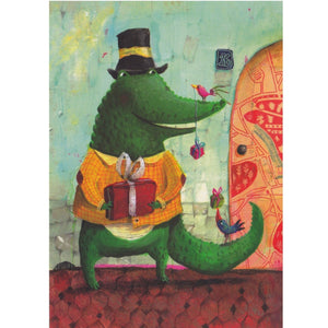 Birthday Card - The Gift Crocodile - Cards - Lavender Home London