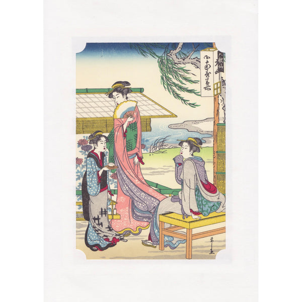 Japanese Woodblock Print 10 - Beauties by Eishi Hosoda - Lavender Home London