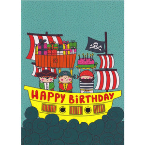 Birthday Card - Happy Birthday Pirates - Cards - Lavender Home London