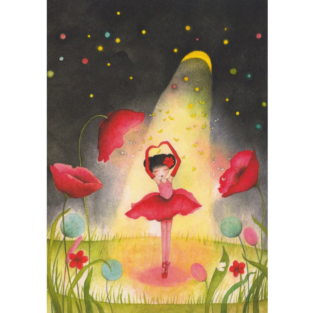 Greeting Card - DA39 - The Star Ballet Dancer