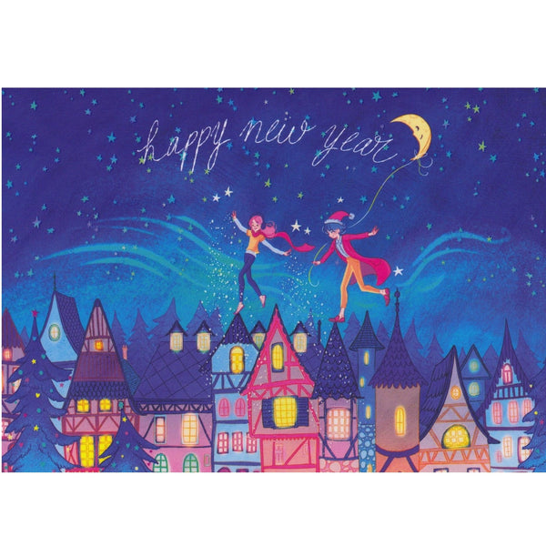New Year Card - DX17 - Magic Balloon - Lavender Home London