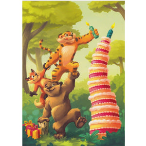 Birthday Card - DA61 - Jungle Cake - Lavender Home London