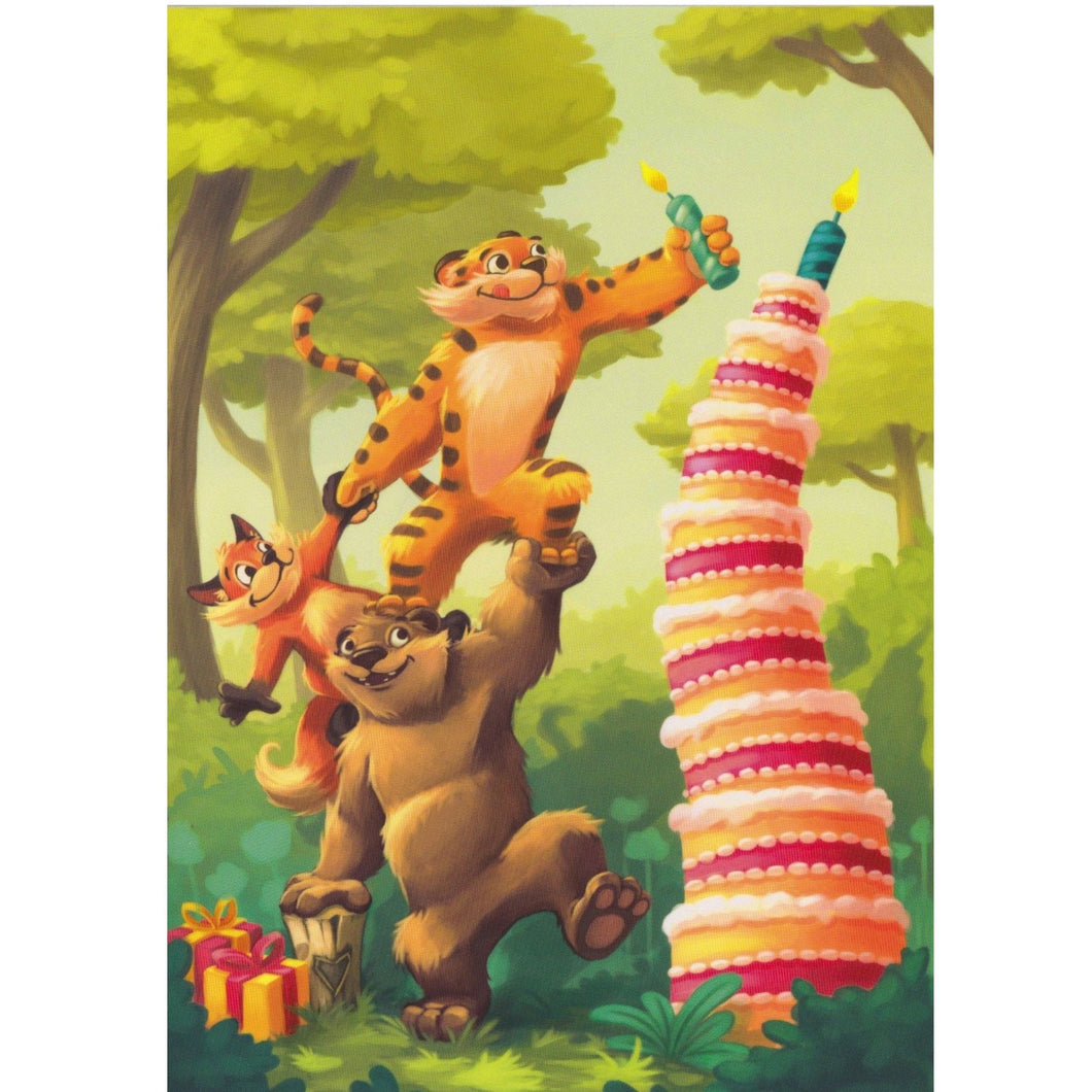 Birthday Card - Jungle Cake - Cards - Lavender Home London