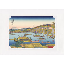 Japanese Woodblock Print 18 - Ryogokubashi in Summer by Hokusai Katsushika - Print - Lavender Home London